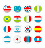 Flags. Of the world. World Flag Button Series. Flag with clipping path Royalty Free Stock Photography