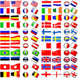 Flags. Different flags representing different countries Stock Photo