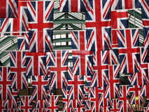 Flags. Union Jack flags in Covent garden in London UK Stock Images