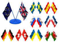 Flags. 3d Royalty Free Stock Photo