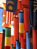 Flags. Colorful flags royalty free stock photography
