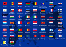 Flags. Vector of European countries flags Royalty Free Stock Image