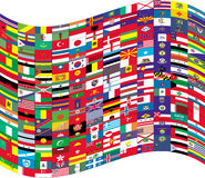 Flags. Big Flag with small flags Royalty Free Stock Images