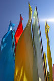 Flags. Colorful flags stock photo