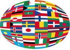 Flags. This image is a  illustration and can be scaled to any size without loss of resolution. This image will download as a .eps file. You will need a  editor Royalty Free Stock Images