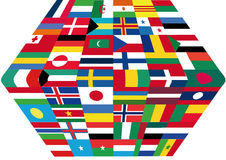 Flags. This image is a  illustration and can be scaled to any size without loss of resolution. This image will download as a .eps file. You will need a  editor Stock Images