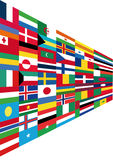 Flags. This image is a  illustration and can be scaled to any size without loss of resolution. This image will download as a .eps file. You will need a  editor Stock Image