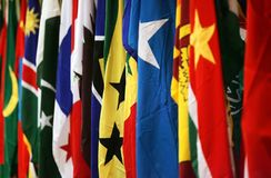 Flags. Rows of countries flags royalty free stock images