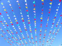 Flags. Multicolored Flags stock photography