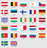 Flags. 27 nation flags in European Union Stock Photo