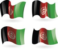 4 Flags of Afghanistan Stock Photos