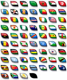 Flags of Africa 2. 66 flags icons (buttons) of Africa 600x504 pixels including not recognised countries royalty free illustration