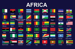 Flags of Africa. Set of accurate flags of Africa vector illustration Royalty Free Stock Image