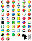 Flags of Africa complete set Royalty Free Stock Photography