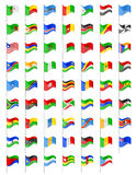 Flags of Africa countries vector illustration Stock Photo
