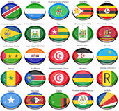 Flags of the Africa Stock Photos