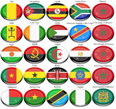 Flags of the Africa. Set of icons. Flags of the Africa Royalty Free Stock Photos