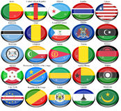 Flags of the Africa Royalty Free Stock Photos