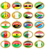 Flags of the Africa. Set of icons. Flags of the Africa Stock Photo