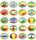 Flags of the Africa Stock Images