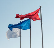 Flags against sky. Stock Images