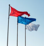Flags against sky. Royalty Free Stock Photography