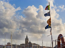 Flags in Alghero Royalty Free Stock Photography