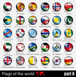 Flags of all countries in the 3d ball Stock Photography
