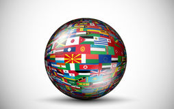 Flags of all countries in the form of 3D spheres Royalty Free Stock Photos