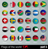 Flags of all countries  with shadows Royalty Free Stock Images