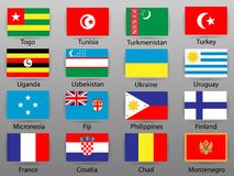 Flags of all countries of the world Part 10 royalty free illustration