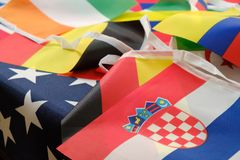 Flags of all nations of the world royalty free stock photography