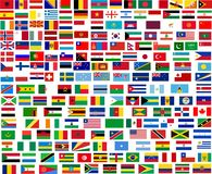 Flags of all world countries Stock Photo
