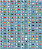 216 Flags all world Stock Photos