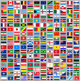 216 Flags all world. 216 Flags of world, flat vector illustration, set march 2014 Royalty Free Stock Image