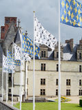 Flags at Amboise Chateau France Stock Photo