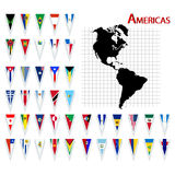Flags of America Stock Photography