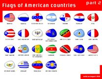 Flags of Americas Royalty Free Stock Photos