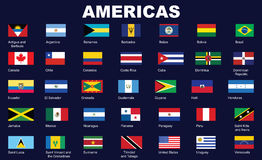 Flags of Americas Royalty Free Stock Images