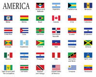 Flags of Americas Stock Photography