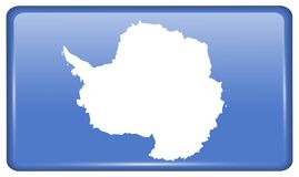 Flags Antarctica in the form of a magnet on refrigerator with reflections light. Flags of Antarctica in the form of a magnet on refrigerator with reflections royalty free illustration