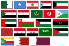 Flags of the Arab League Royalty Free Stock Image