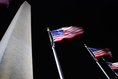 Flags around Washington Monument Royalty Free Stock Photography
