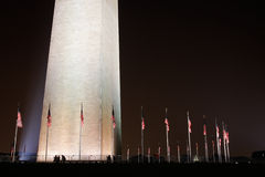 Flags around the Washington Monument in Washington Stock Photo