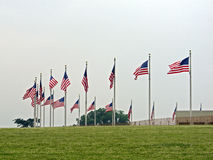 Flags around the Washington Monument in Washington D.C., 2008 Stock Images