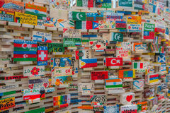 Flags Art in Prague Stock Image