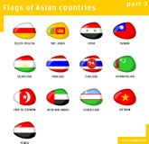 Flags of Asia Royalty Free Stock Photography