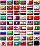 Flags of Asia. 53 flags icons (buttons) of Asia 599x457 pixels royalty free illustration