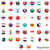 Flags Asia  set Royalty Free Stock Photo