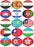 Flags of the Asia. Set of icons. Flags of the Asia Stock Photo